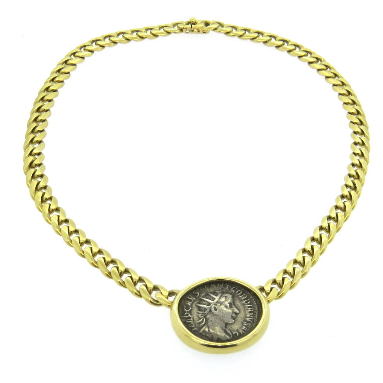 bulgari gold ancient coin necklace at 1stdibs