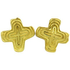 Christopher Walling Gold Earrings