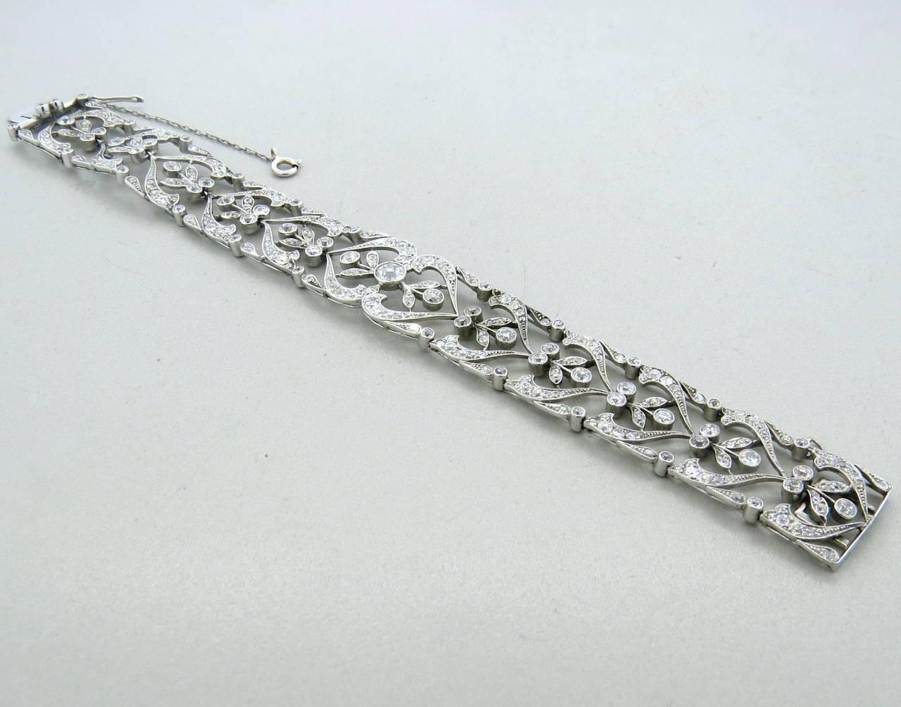 beautiful antique edwardian diamond platinum bracelet at