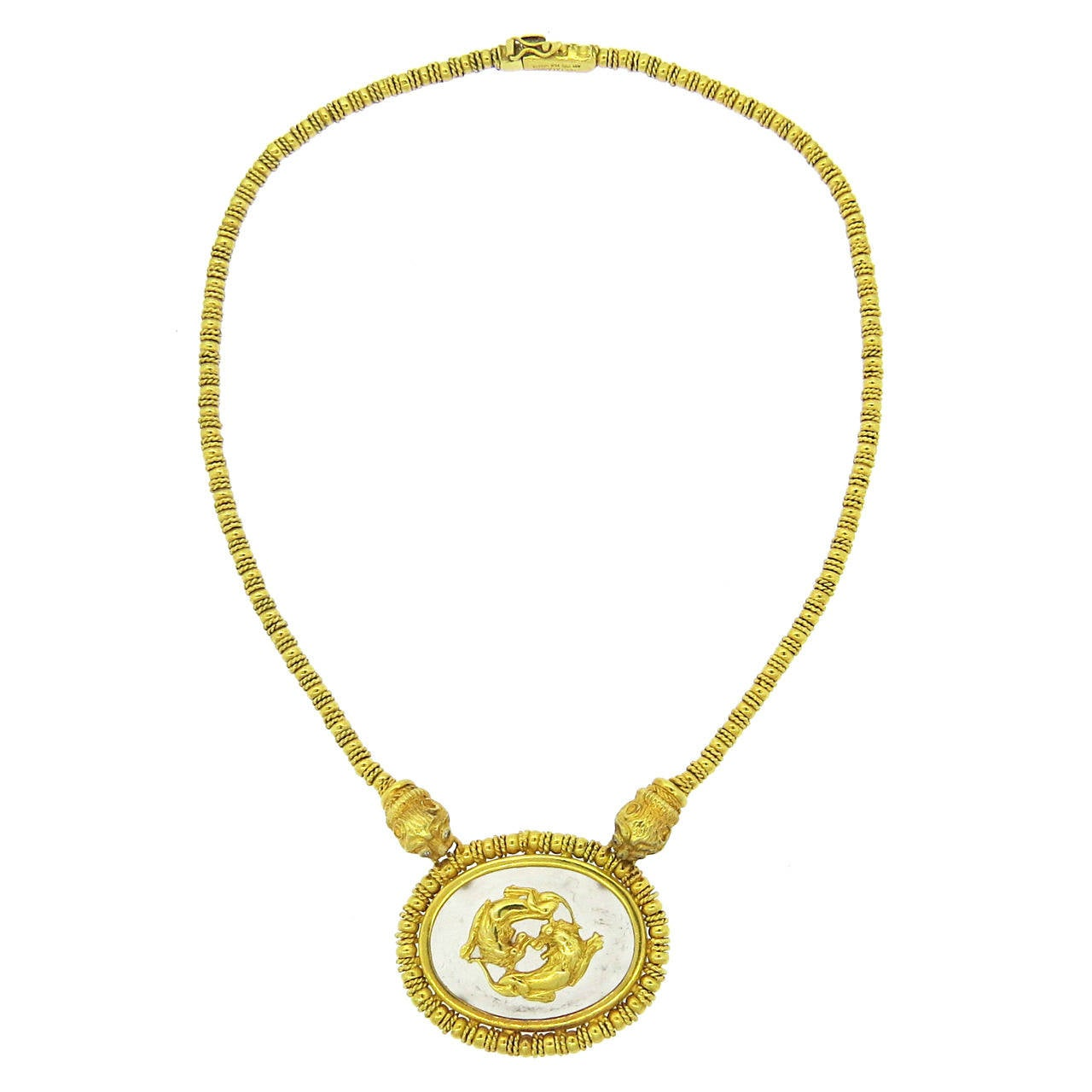 Ilias Lalaounis Crystal Diamond Gold Chimera Necklace