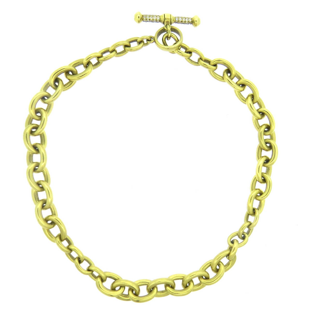 barry kieselstein cord gold chain toggle necklace