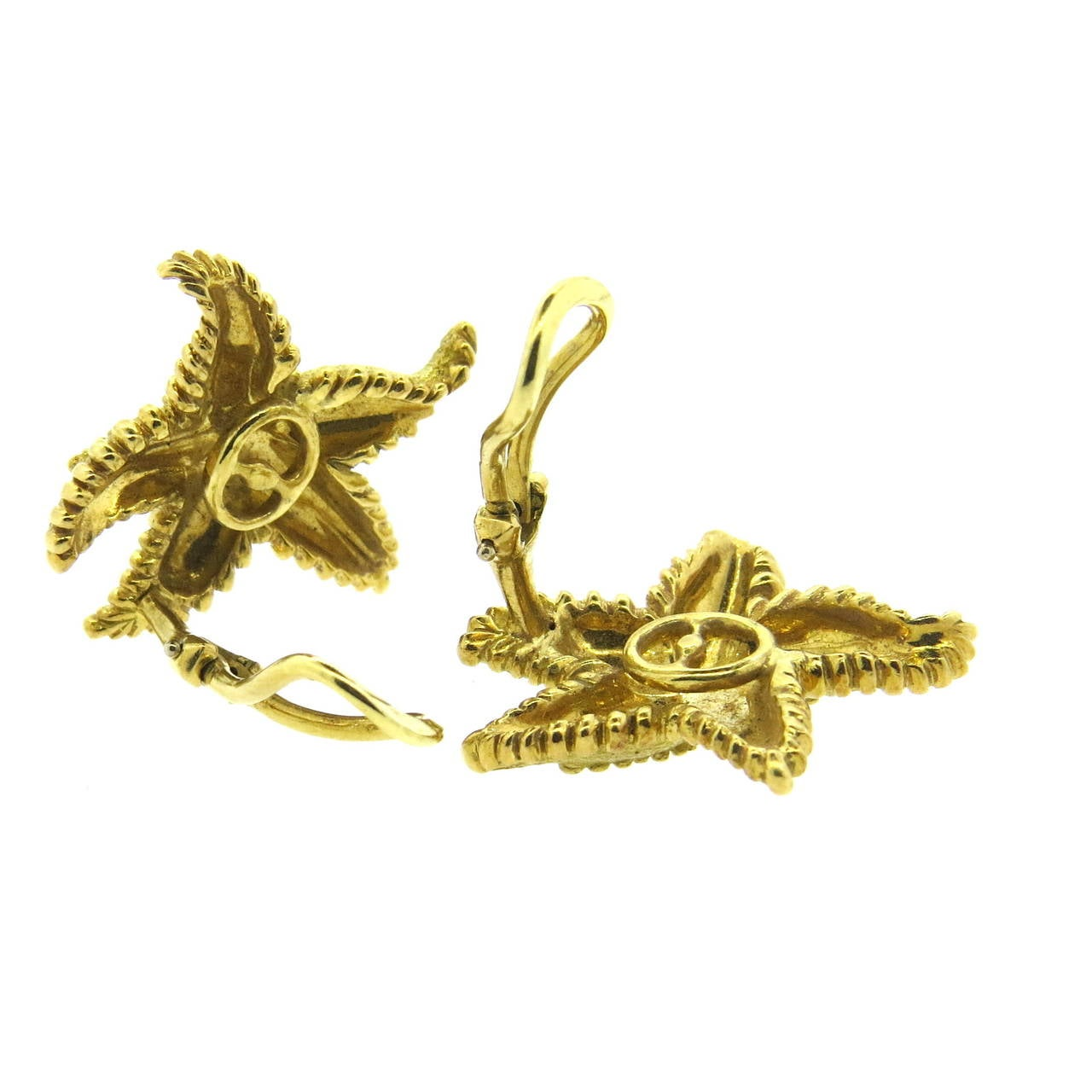 and co gold starfish earrings at 1stdibs