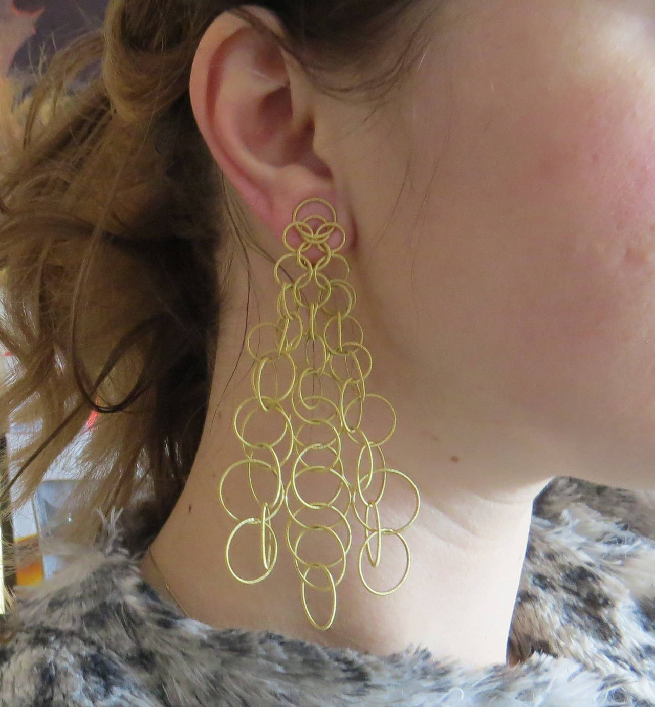 Buccellati Hawaii Large Gold Earrings In Excellent Condition For Lahaska Pa