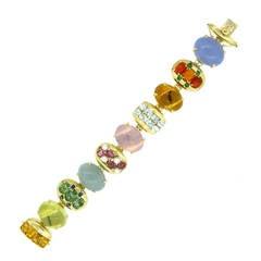 Beautiful Gem Set Gold Bracelet