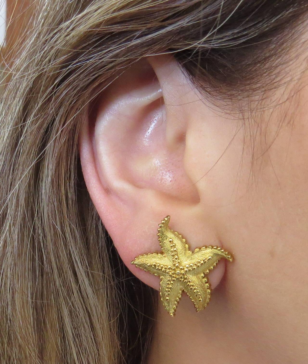 Women S Tiffany Co Gold Starfish Earrings For