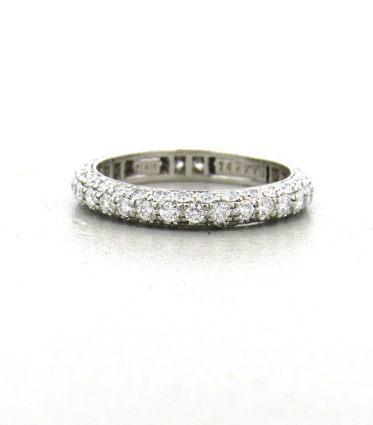 harry winston platinum wedding band ring at 1stdibs