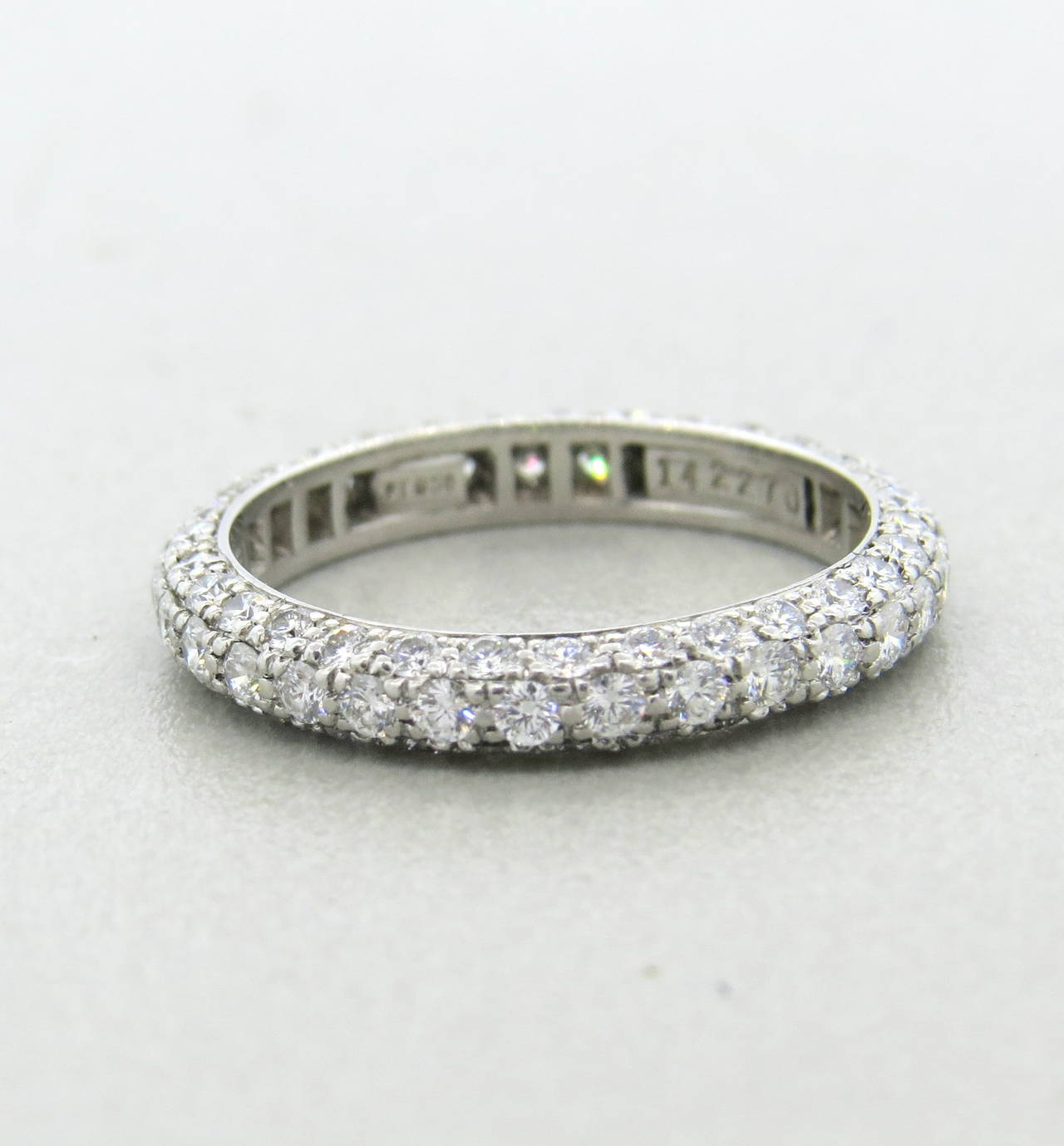 Harry Winston Diamond Platinum Wedding Band Ring At 1stdibs