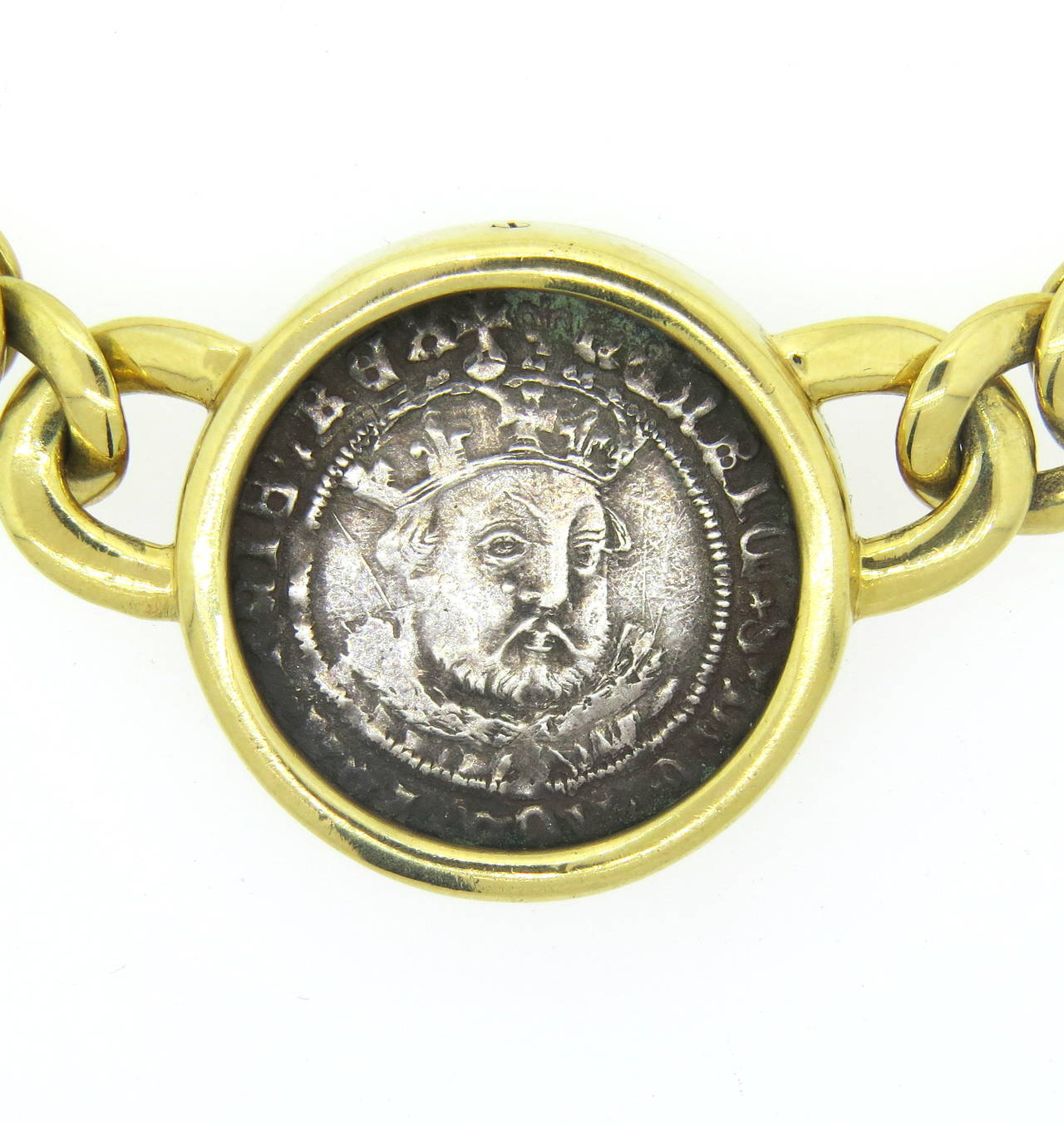 bulgari monete ancient coin henry viii gold necklace 3