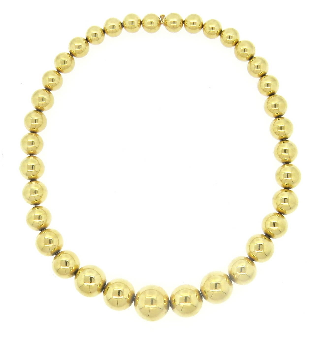 antique gold bead necklace at 1stdibs