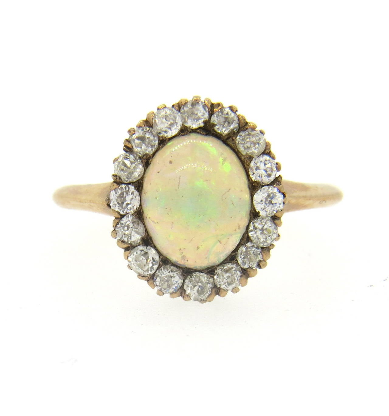 antique opal gold ring image 2
