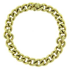 David Yurman Gold Chain Link Bracelet