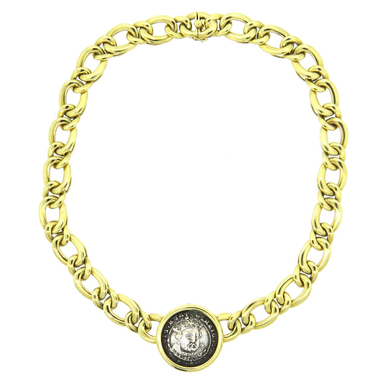 bulgari monete ancient coin henry viii gold necklace 1