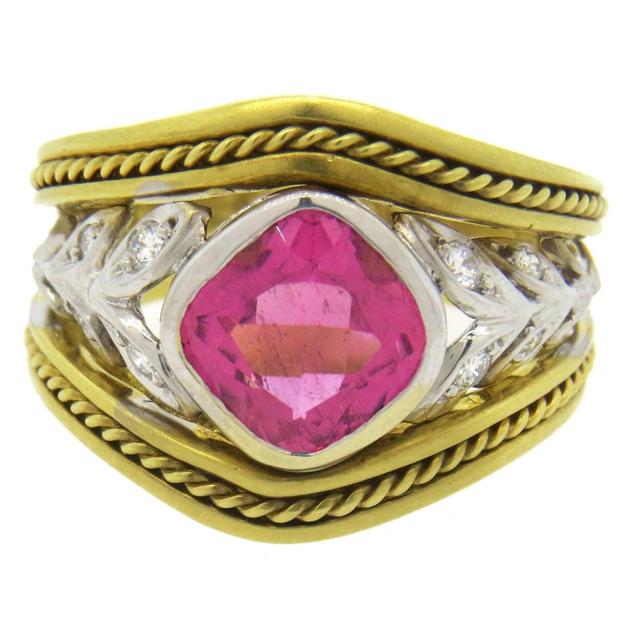 seidengang pink tourmaline gold ring at 1stdibs
