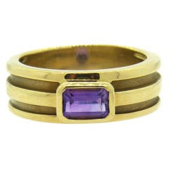Tiffany & Co. Amethyst Gold Ring