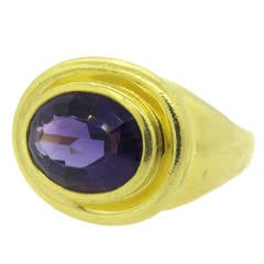 Large Tiffany & Co Paloma Picasso Gold Amethyst Ring