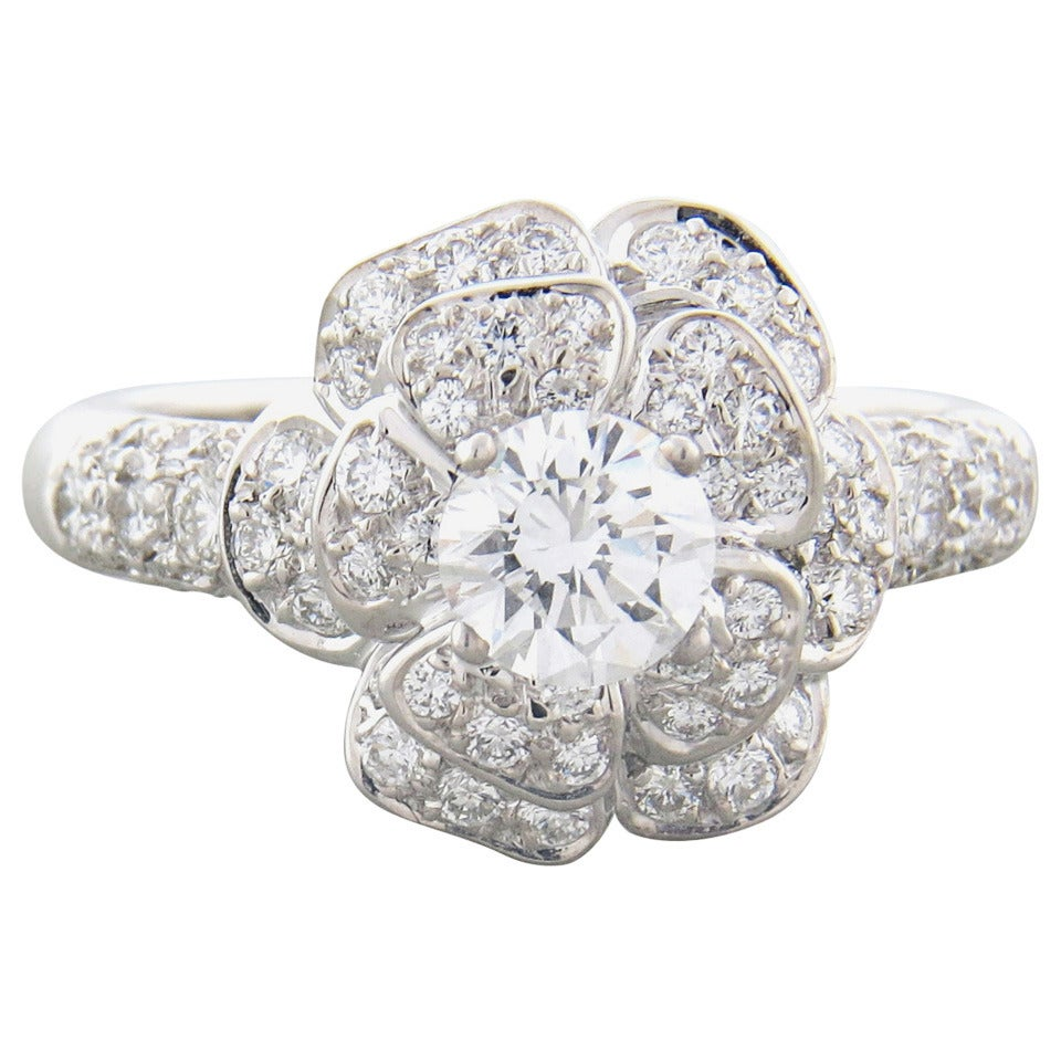 this chanel camellia diamond gold flower engagement ring is no longer