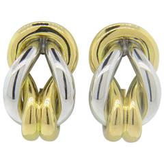 Cartier Gold Sailor's Knot Earrings