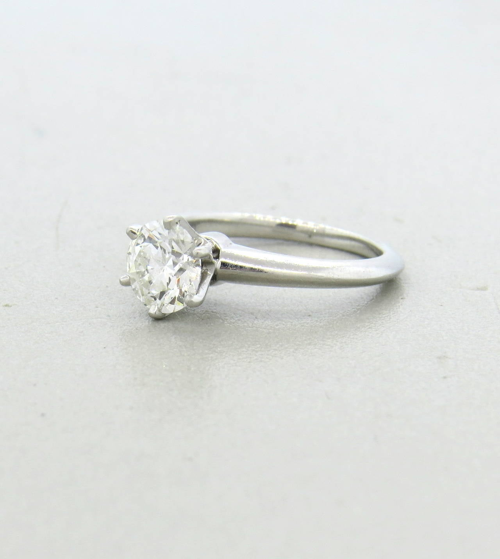 and co platinum 1 11 carat engagement ring