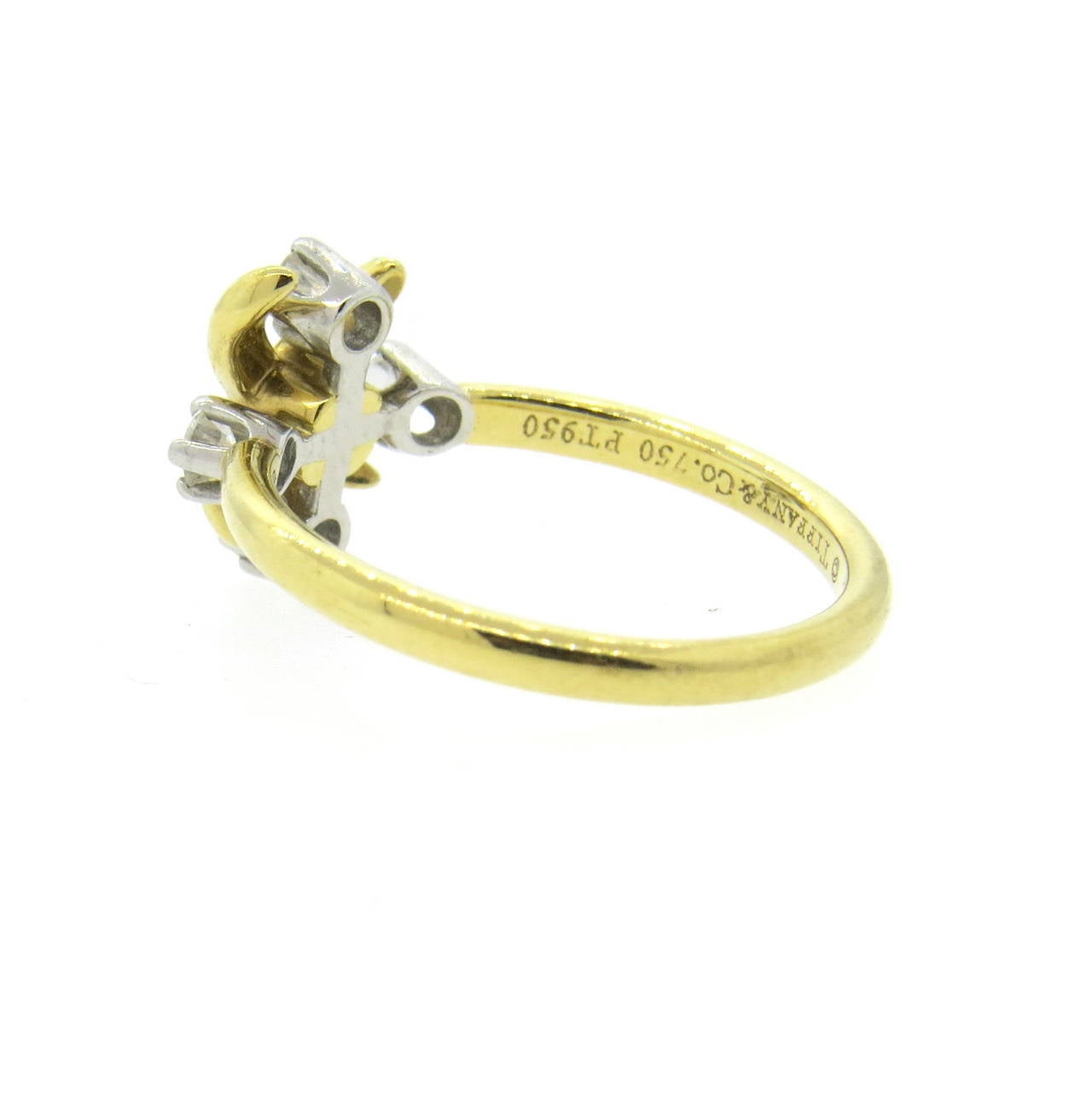 Tiffany and Co Schlumberger Lynn Diamond Gold Platinum Ring For