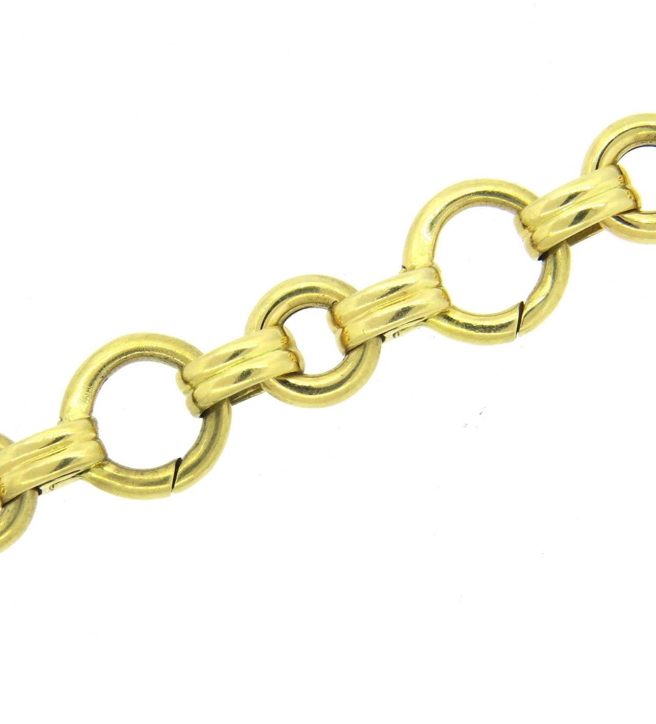 aaron basha gold charm bracelet at 1stdibs