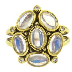 Temple St. Clair Gold Moonstone Diamond Ring