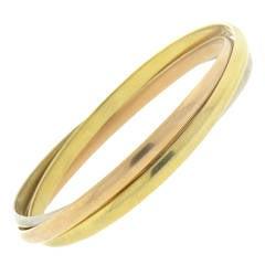 Cartier Trinity Tri Color Rolling Bangle Bracelet