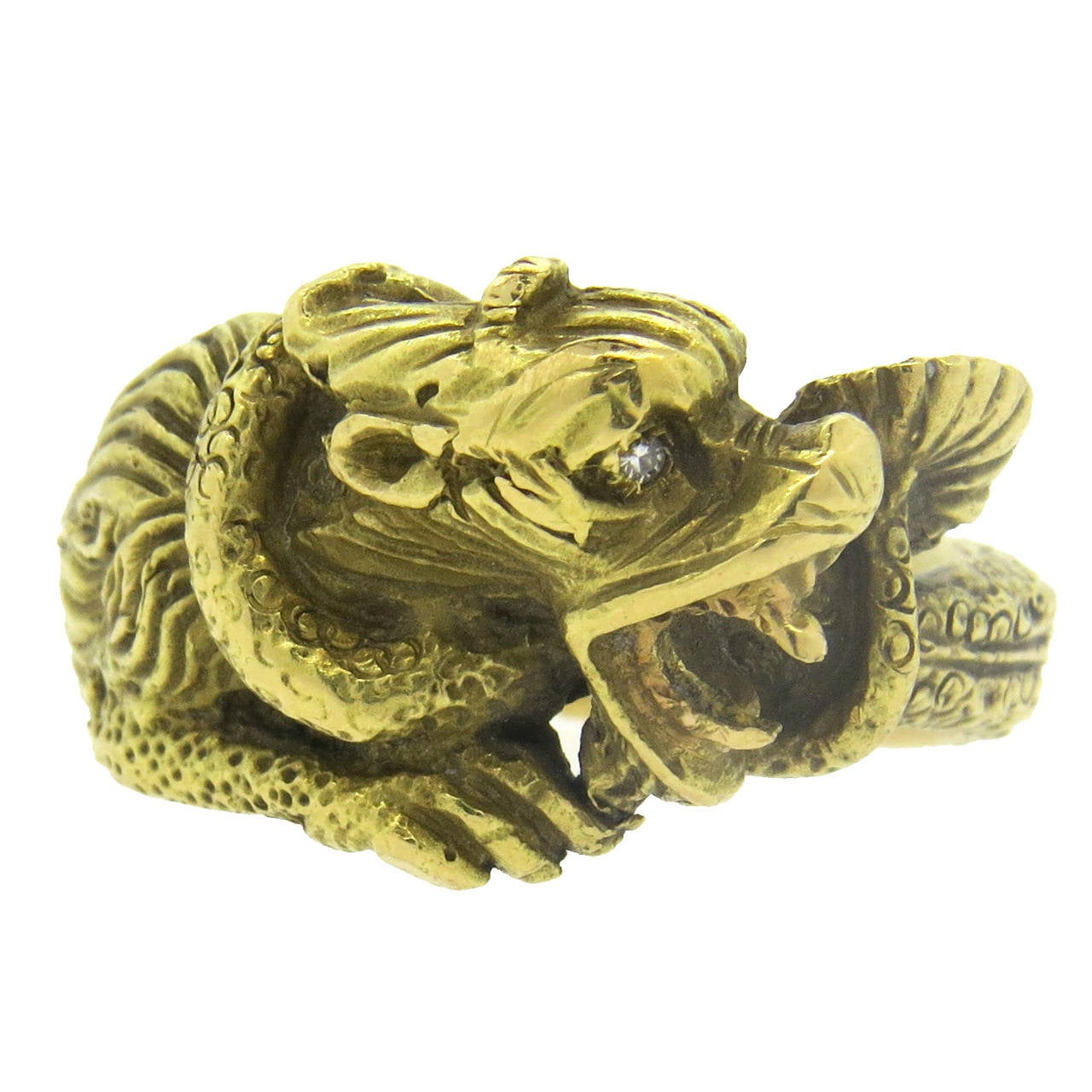 Gold Dragon Rings For Sale