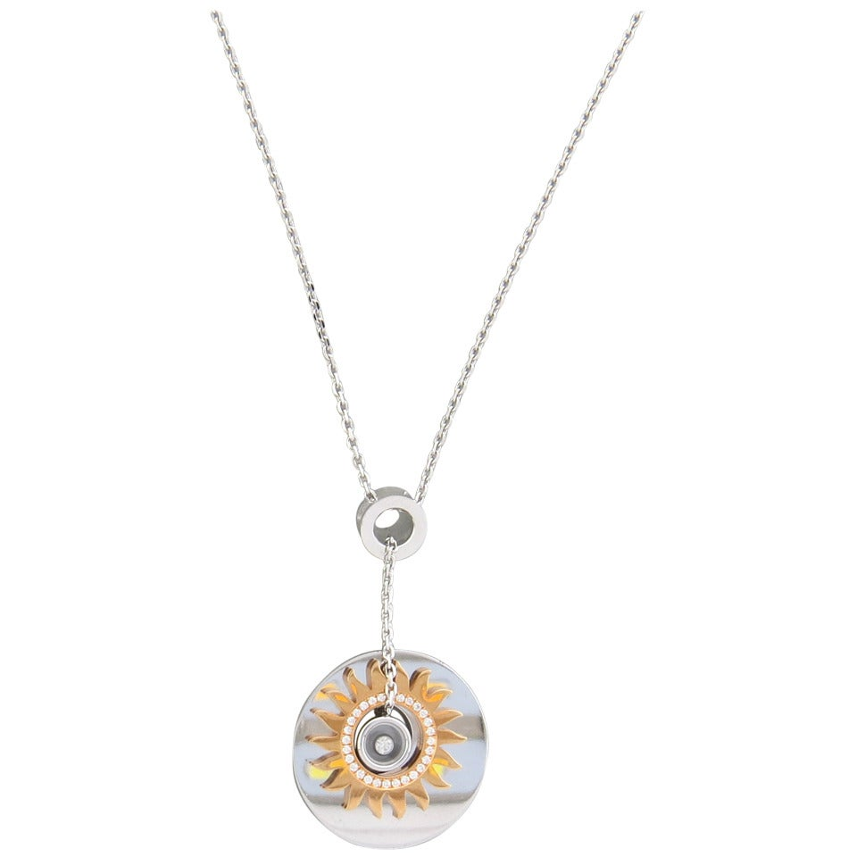 chopard happy gold pendant necklace for sale at