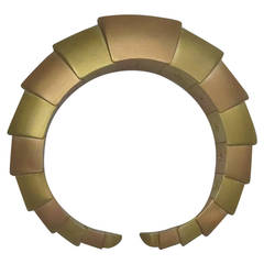 Massive Mattia Cielo Gold Flexible Cuff Bracelet