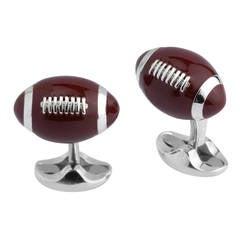 Deakin & Francis Enamel Sterling Silver American Football Cufflinks