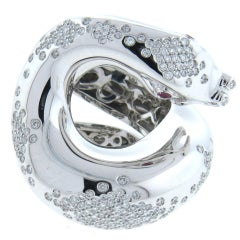 Impressive Pasquale Bruni Il Peccato Gold Diamond Snake Ring