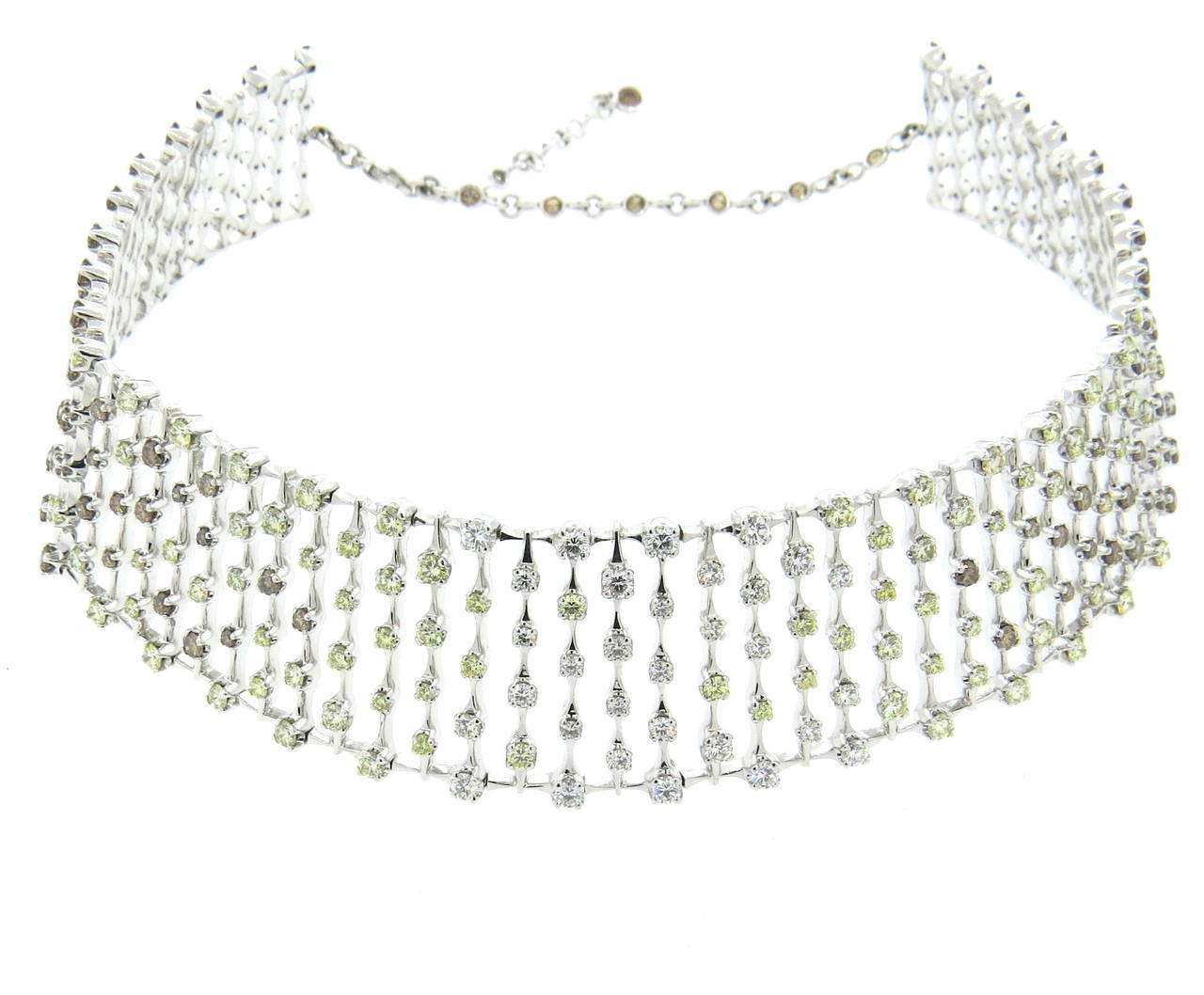 H. Stern World Collection Diamond Gold Necklace and Earrings For Sale 1