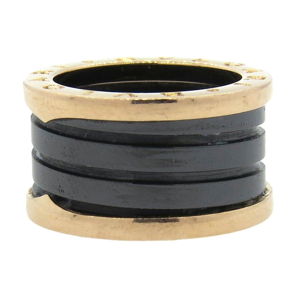 Bulgari B.Zero1 Ceramic Gold Band Ring 1