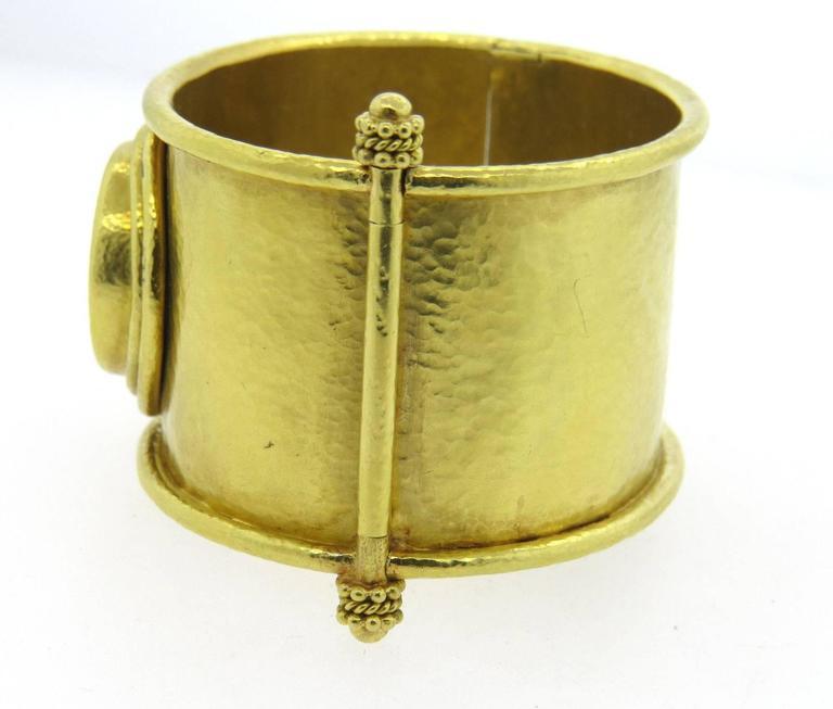 Elizabeth Locke Large Ancient Coin Gold Wide Bangle