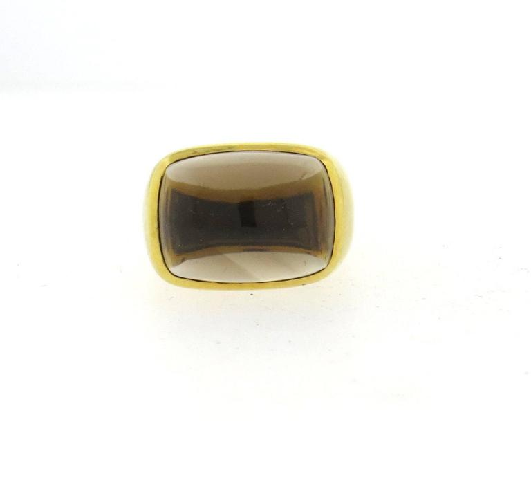 Bold H. Stern Smokey Topaz Gold Ring 4