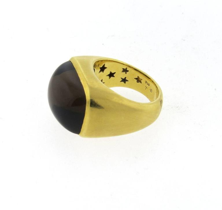 Bold H. Stern Smokey Topaz Gold Ring 2