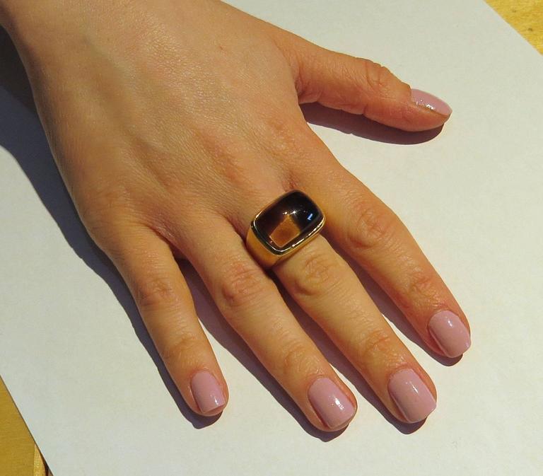 Bold H. Stern Smokey Topaz Gold Ring 5