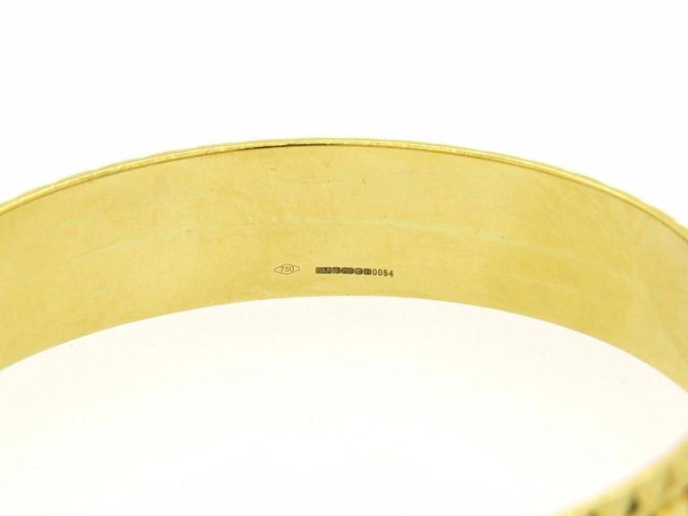 Solange Azagury Partridge Gold Patterned Bangle Bracelet 2