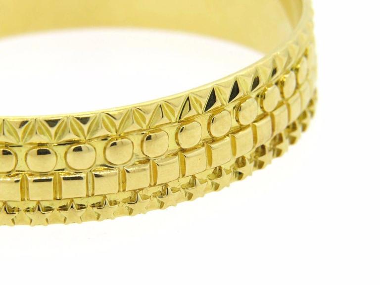 Solange Azagury Partridge Gold Patterned Bangle Bracelet 4
