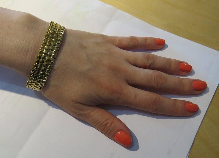 Solange Azagury Partridge Gold Patterned Bangle Bracelet 3