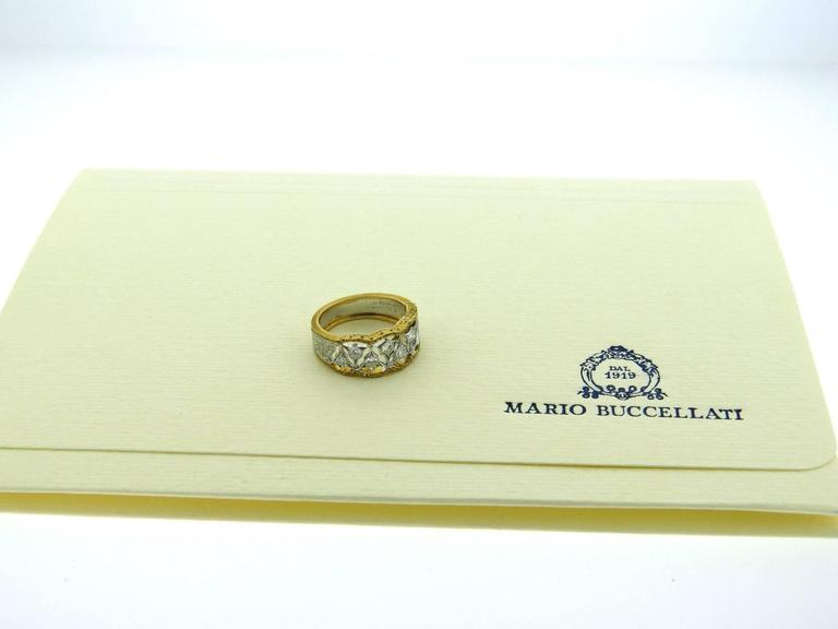 Mario Buccellati Diamond Gold Half Band Ring 2