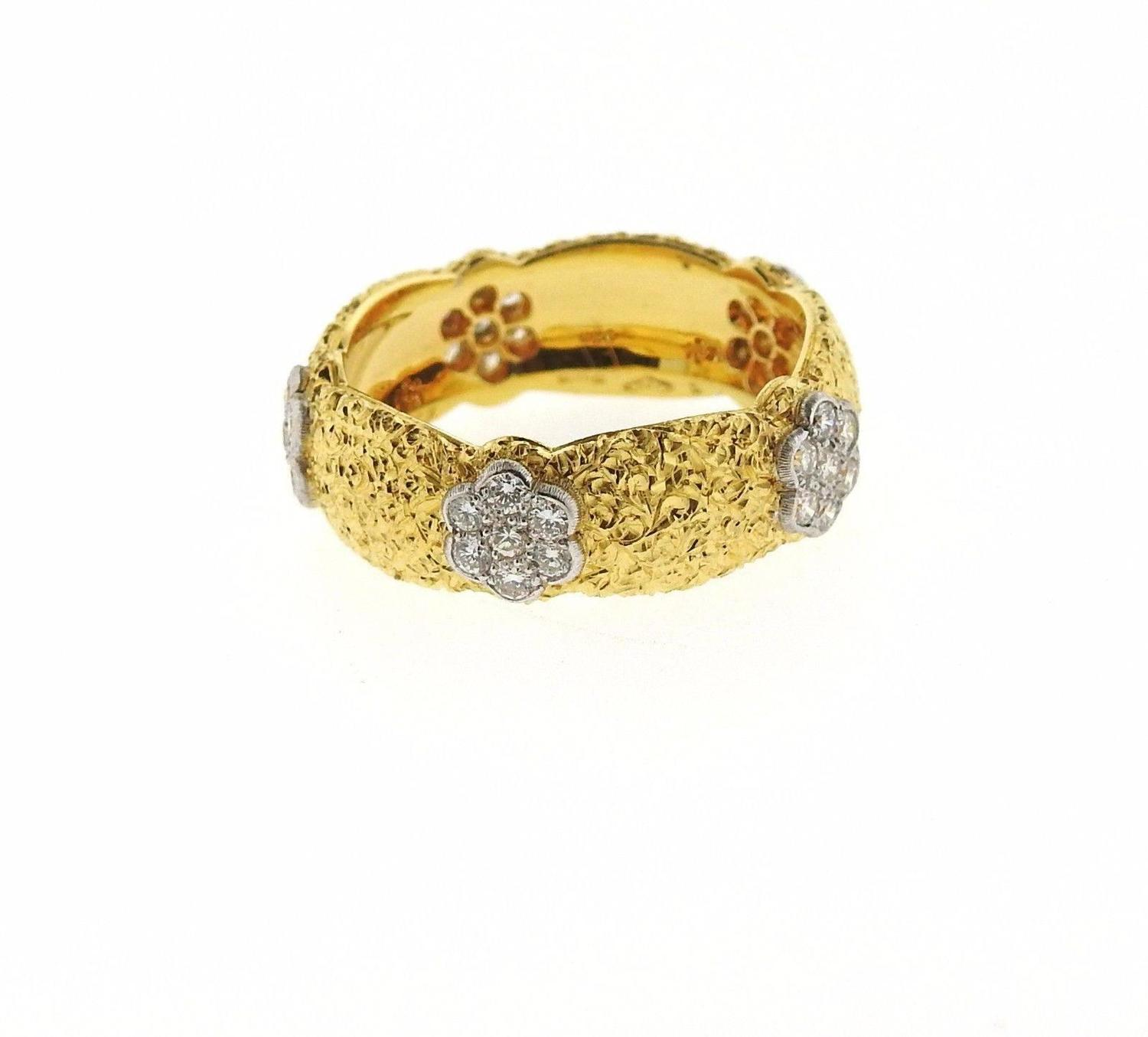 Buccellati Eternelle Gold Diamond Wedding Band Ring For