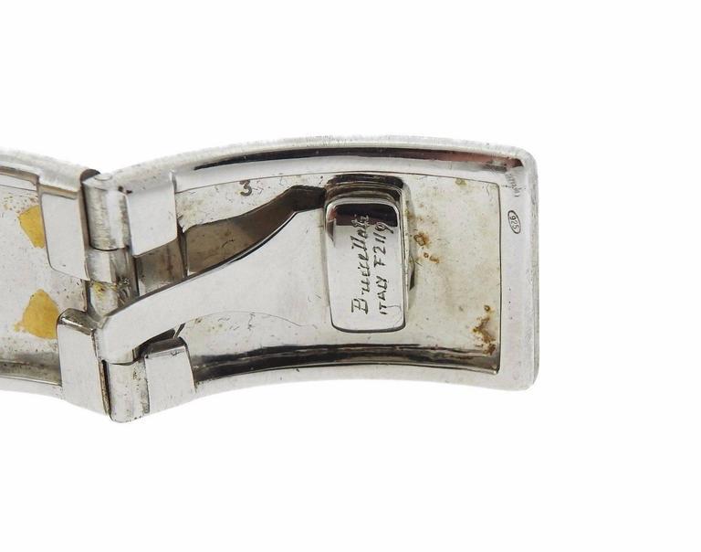 Women's Buccellati Gold Sterling Silver Cuff Bracelet For Sale