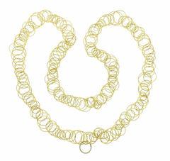 Buccellati Hawaii Gold Long Link Necklace