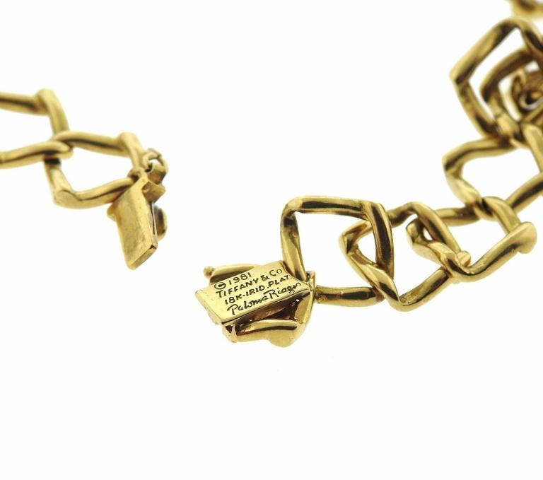 Tiffany & Co. Paloma Picasso Diamond Gold Platinum Chain Link Necklace 5