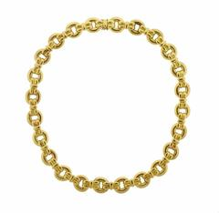 Massive Elizabeth Locke Gold Link Necklace