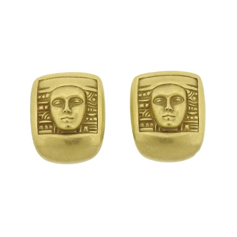 Kieselstein Cord Women Of The World Collection Yellow Gold Earrings