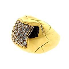 bulgari piramide gold diamond ring