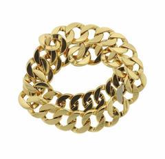 Verdura Gold Curb Link Double Wrap Bracelet