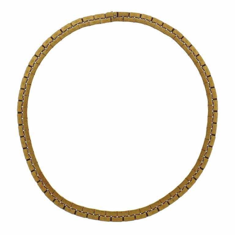 Massive Buccellati Classic Gold Necklace